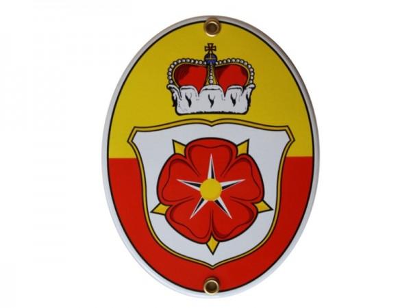 Lippische Rose Emaille Schild Nr. 1707
