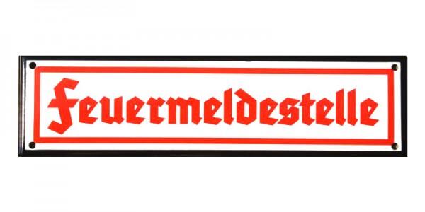 Feuermeldestelle Emaille Schild Nr. 1320