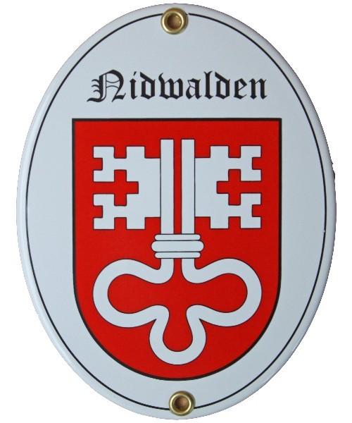 Kanton Nidwalden Emailschild Nr. 7714