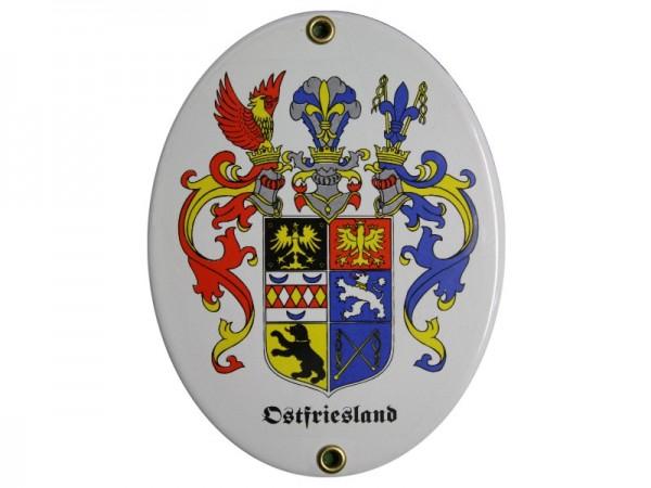 Ostfriesland Emaille Schild Nr. 2980