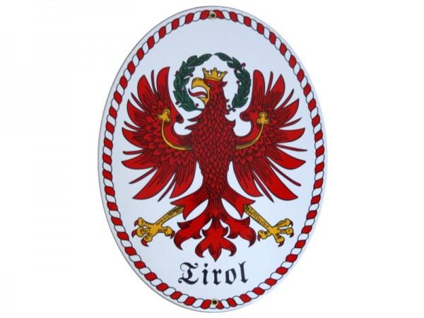 Tirol Emaille Grenzschild Groß Nr. 1733