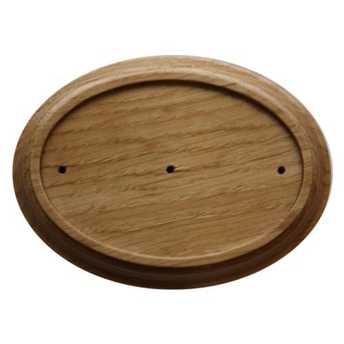 Holz Rahmen Oval Eiche 10 x 13,5 cm Wandhalter für 7 x 10,5 cm Jugendstil Emaille Schilder Nr. 803 E