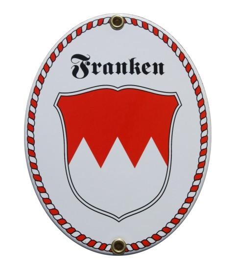 Franken Wappen mit Kordel Rahmen Emaille Schid Nr. 1892