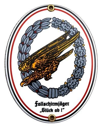 Fallschirmjäger Emaille Schild (ohne Holzrahmen) Nr. 1236