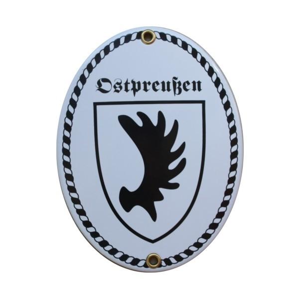 Ostpreußen Emaille Schild (ohne Holzrahmen) Nr. 1749