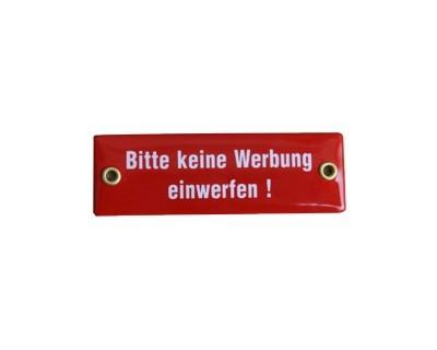 """Emaille Schild """"Bitte keine Werbung einwerfen!"""" Straßenschild Nr. 1808"""