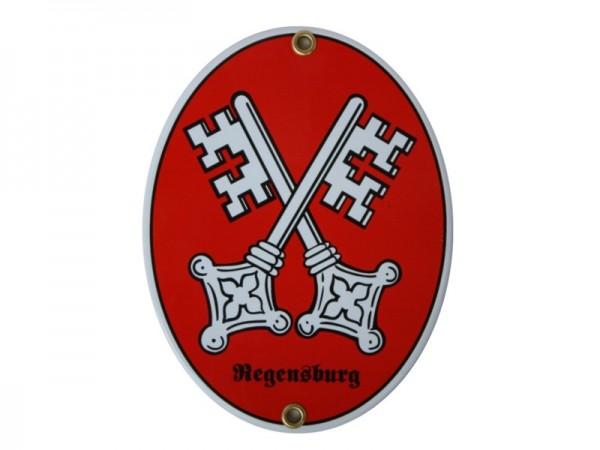 Regensburg Emaille Schild Nr. 1809