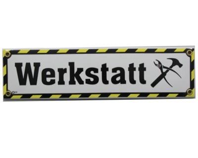Werkstatt Emaille Schild Nr. 1717