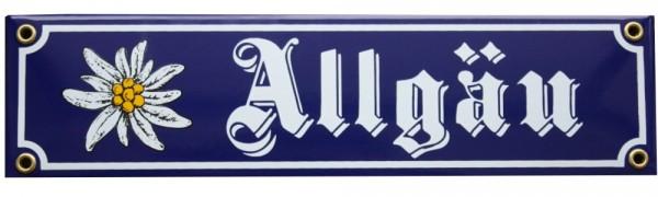 Allgäu mit Edelweiß Emaille Schild Nr. 1016