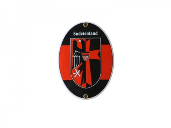 Sudetenland Emaille Schild (ohne Holzrahmen) Nr. 1814