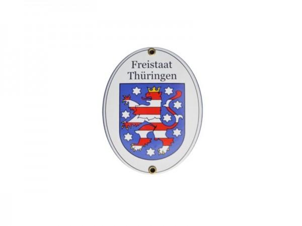 Freistaat Thüringen Emaille Schild Nr. 2075