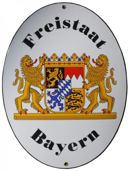 Freistaat Bayern Emaille Grenzschild Groß Nr. 740