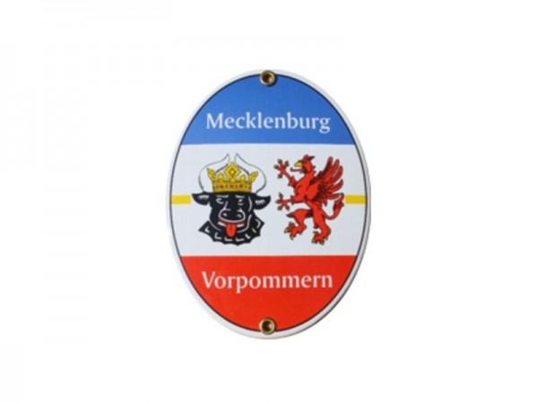 Mecklenburg-Vorpommern Emaille Schild Nr. 2071A