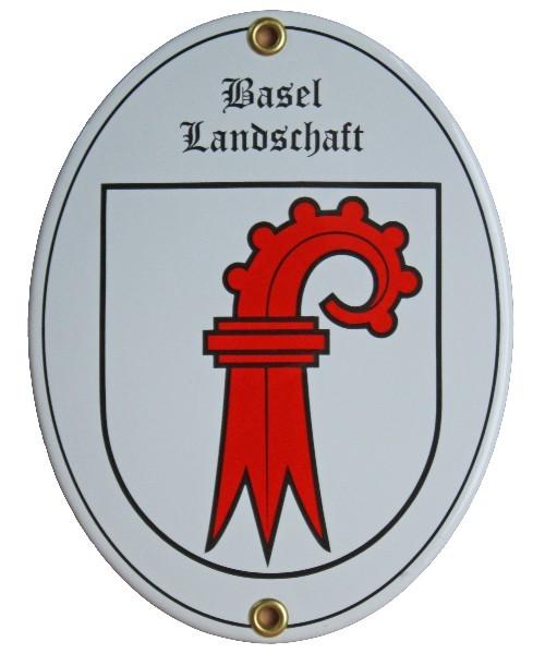 Kanton Basel Landschaft Emailschild Nr. 7704
