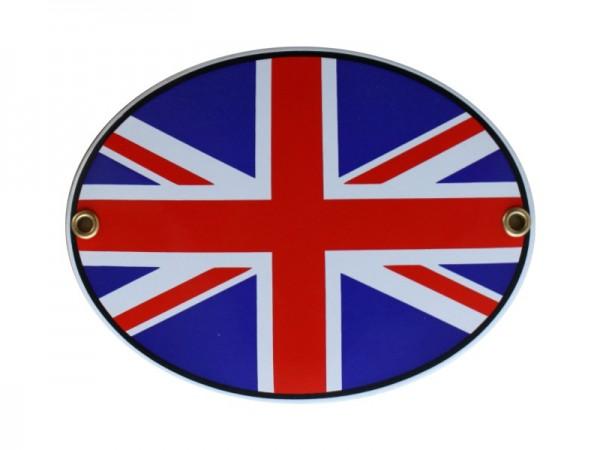Großbritannien Emaille Schild Oval Nr. 1743