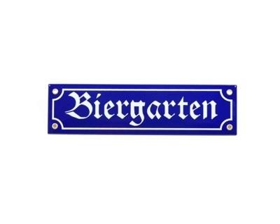 "Magnet ""Biergarten"" Emaille Nr. 818"