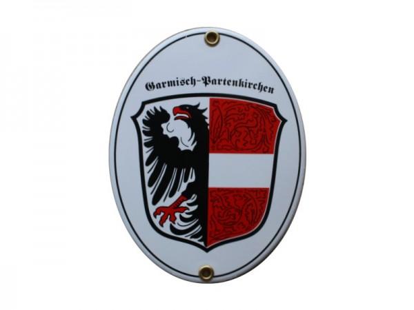 Garmisch Partenkirchen Emaille Schild Nr. 1722