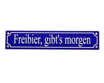"""Magnet """"Freibier gibts morgen"""" Emaille Nr. 817"""