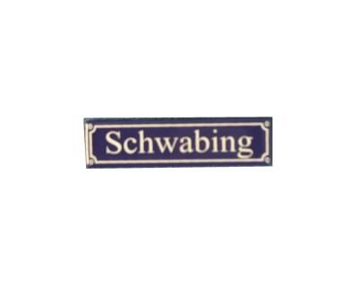 """Magnet """"Schwabing"""" Emaille Nr. 826"""
