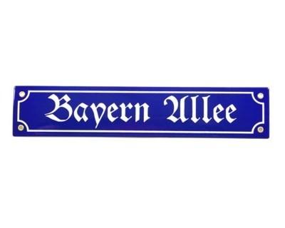 Bayern Allee Emaille Schild Nr. 820