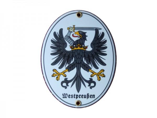 Westpreußen Emaille Schild (ohne Holzrahmen) Nr. 1732