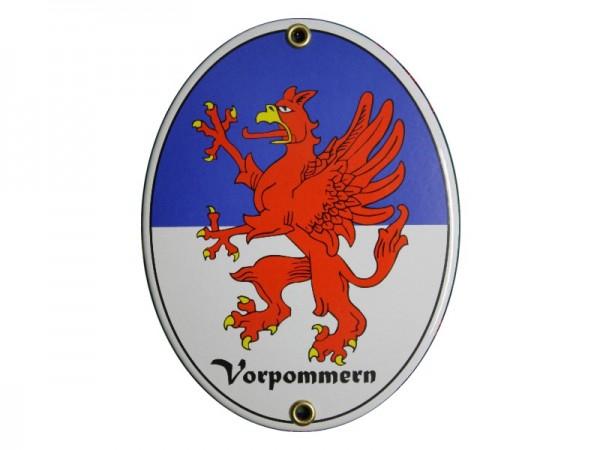 Vorpommern Emaille Schild Nr. 2979