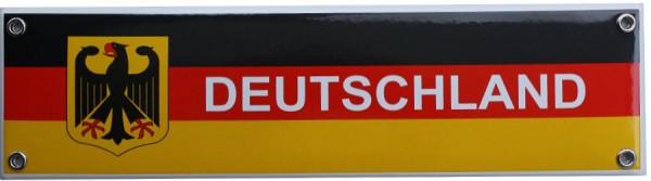 Deutschland Emaille Schild 8 x 30 cm bunt Nr. 875