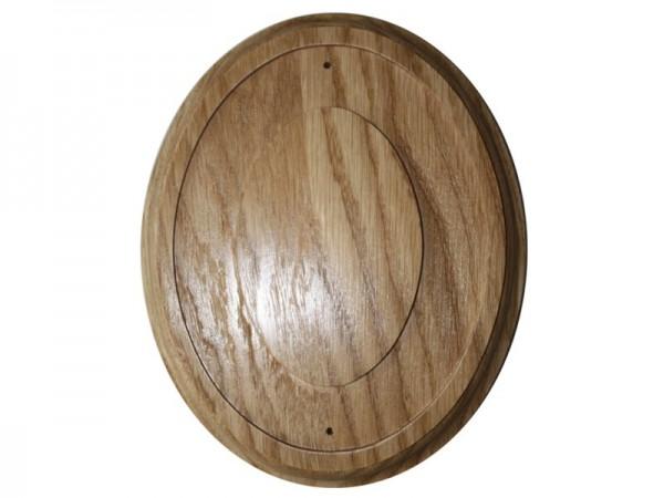 Holz Rahmen Oval Eiche 15 x 18,5 cm Wandhalter für 11,5 x 15 cm Emaille Schilder Nr. 1998 E