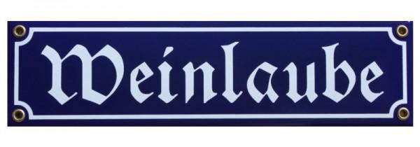 Weinlaube Emaille Schild blau Nr. 829