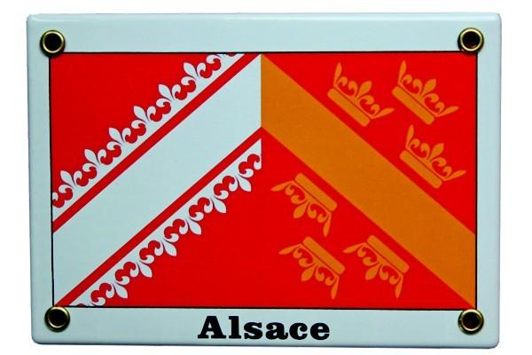 Elsass Emaille Emailschild Nr. 1216