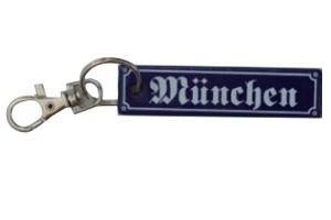 Schlüsselanhänger München ca. 2 x 8 cm Emaille Nr. 1294