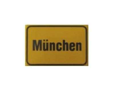 """München"" Magnet, Emaille gelb Nr. 545"