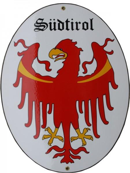 Südtirol Emaille Grenzschild Groß Nr. 1321
