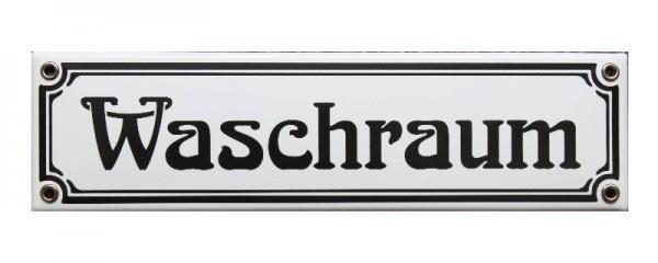 Waschraum Jugendstil 8 x 30 cm Emaille Schild Nr. 1024