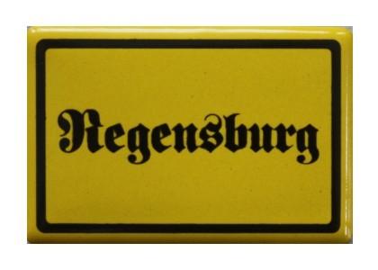 """""""Regensburg"""" Magnet, Emaille gelb Nr. 1276"""