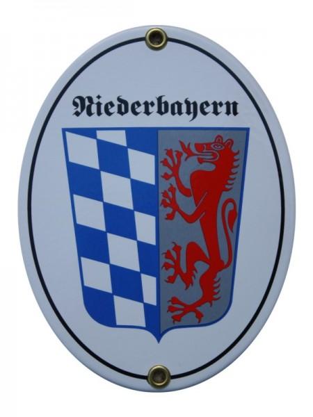 Niederbayern Emaille Grenzschild Nr. 1232