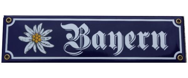 Bayern mit Edelweiß Emaille Schild Nr. 1015