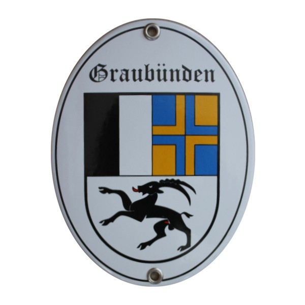 Kanton Graubünden Emailschild Nr. 7710