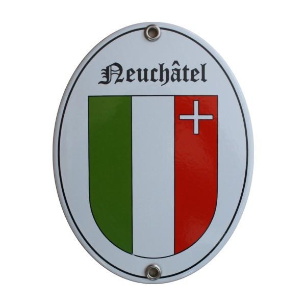Kanton Neuenburg / Neuchâtel Emailschild Nr. 7713