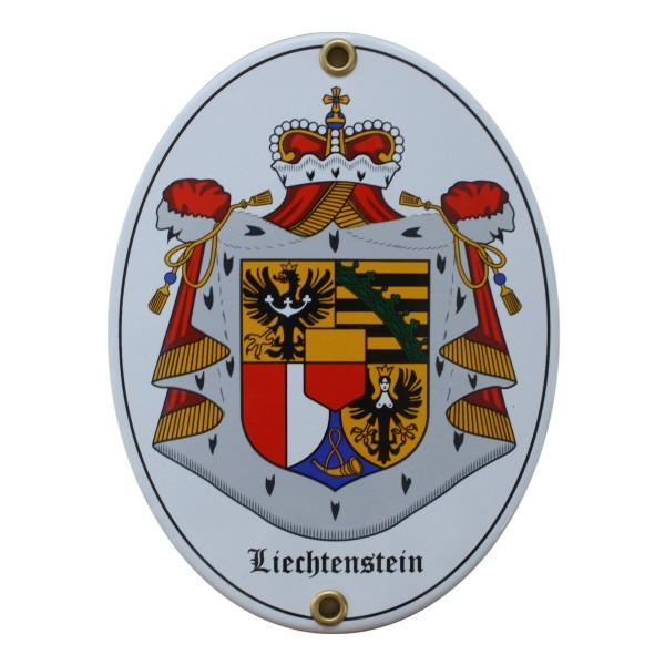 Liechtenstein Emailschild Nr. 1745