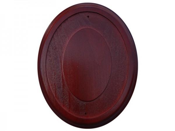 Holz Rahmen Oval Mahagoni 15 x 18,5 cm Wandhalter für 11,5 x 15 cm Emaille Schilder Nr. 1998 M