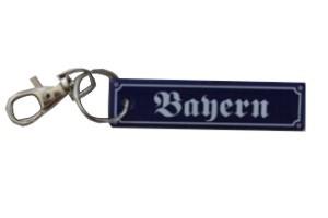 Schlüsselanhänger Bayern ca. 2 x 8 cm Emaille Nr. 1295