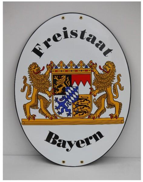 Freistaat Bayern Emaille 45 x 60 cm Grenzschild XXL Nr. 802