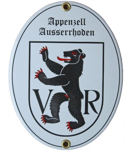 Kanton Appenzell Ausserrhoden Emailschild Nr. 7702