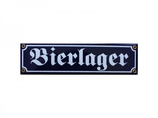 Bierlager Emaille Schild Nr. 2983