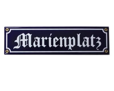 Marienplatz Emaille Schild Straßenschild Nr. 1709
