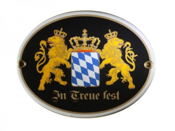 Bayern in Treue fest Emaille Schild Nr. 766