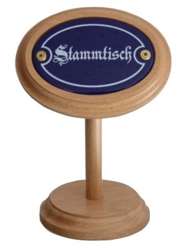 Stammtisch Holzaufsteller mit Emailschild Nr. 881