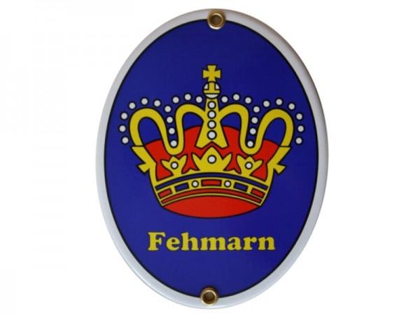 Fehmarn Emaille Schild Nr. 1708 C Kurzfristiges Sonderangebot Achtung: mit kleinen Mängeln!