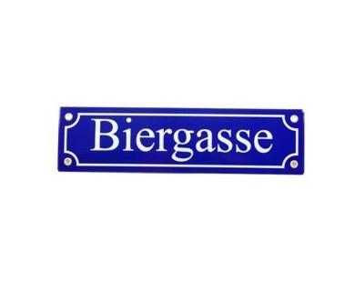 Biergasse Emaille Straßenschild Nr. 823